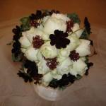 生花のラウンドブーケ