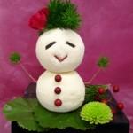 雪だるまのフラワーオブジェ