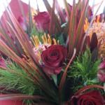 生花の花束(情熱的に)