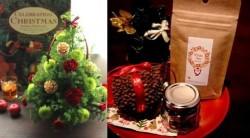 ミニツリーとクリスマスティー