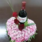バラとワインのギフト