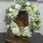 造花のリース